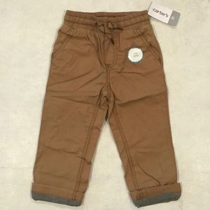 🔴Carter's Toddler Boys Jersey Lined Utility Pants